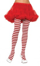 Tights Striped Christmas Elf Costume Stockings White & Red_thumb.jpg