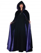 Deluxe Vampire Velvet Lined Black/Purple Cape Adult Costume Accessory_thumb.jpg