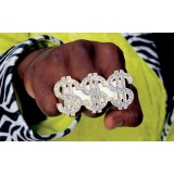 Dollar Sign Ring Sparkling Adult's Costume Accessory
