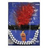 Adult 1920's Flapper Headpiece Red Feather Women's Costume Accessory