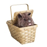 Toto in Basket Deluxe Wizard of Oz Dog Women's Dorothy Costume Accessory