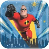 Incredibles 2 Square Paper Luncheon Plates Pack of 8