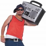 1980's Hip Hop Ghetto Blaster Inflatable Boom Box Costume Accessory