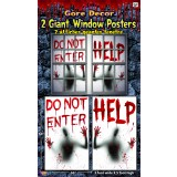 Bloody Window Posters 2 pack Halloween Decoration