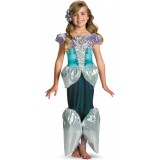 Disney The Little Mermaid Princess Ariel Lame Deluxe Toddler / Child Girl's Costume