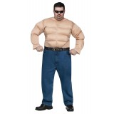 Muscle Chest Shirt Adult Costume Plus