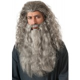 The Hobbit Gandalf Beard Kit Adult Light Grey