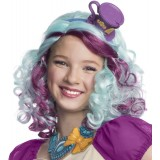 Ever After High - Madeline Hatter Girl's Costume Purple/Blue Wig with Hat Headpiece