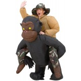 Inflatable Riding Gorilla Costume Adult