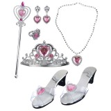 Princess Dress Up Kit With Bag Pink Child