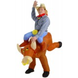 The Illusion Bull Rider Inflatable Adult Costume