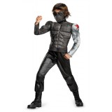 Captain America 2 Winter Soldier Muscle Child Costume