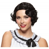 1920s Gatsby Girl Wig Womens Halloween Costume Party Black