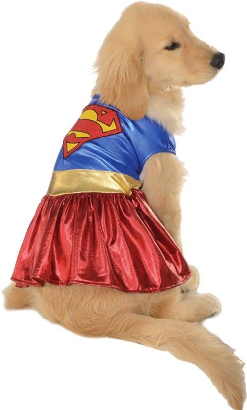 Cute-Funny-DC-Comics-Supergirl-Dog-Doggy-Pet-  sc 1 st  eBay & Cute Funny DC Comics Supergirl Dog Doggy Pet Costume Superhero Dress ...