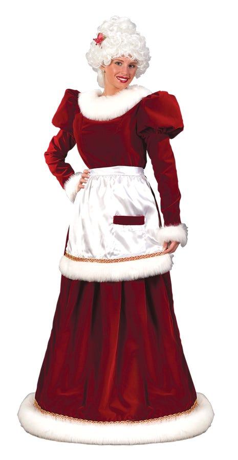 Mrs. Santa Claus Christmas Velvet Dress Adult Womens Xmas Holiday ...