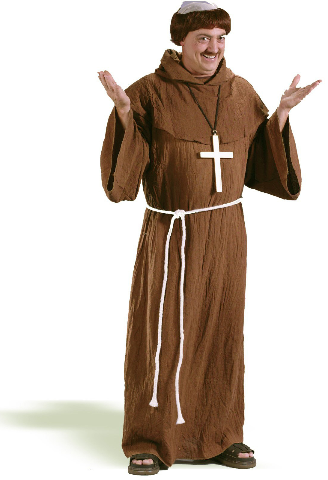 Medieval monk adult plus size costume