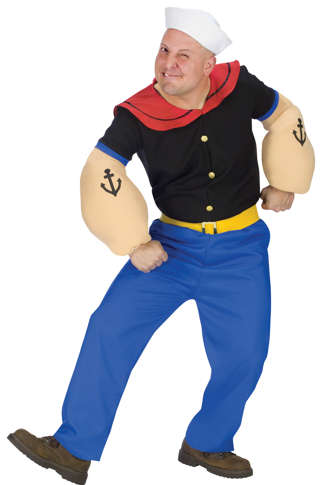 adults popeye the sailor costume mens halloween party fancy dress up outfit std ebay. Black Bedroom Furniture Sets. Home Design Ideas