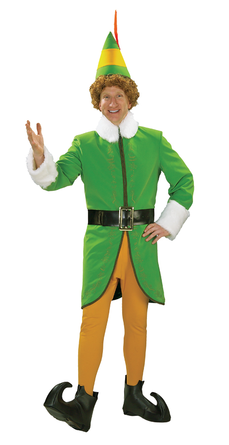 Buddy-The-Elf-Deluxe-Adult-Mens-Funny-Christmas- - Buddy The Elf Deluxe Adult Mens Funny Christmas Costume Fancy Dress