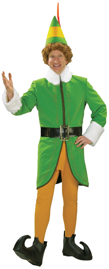 Christmas Fancy Dress Funny.Details About Buddy The Elf Deluxe Adult Mens Funny Christmas Costume Fancy Dress Up