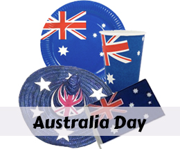 Australia Day costumes, decorations and party supplies.