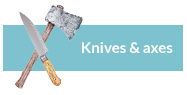 knives axes weapons halloween props